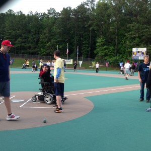 Mike at Miracle League of the Triangle